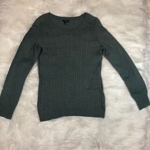 NWOT Talbots green long sleeve sweater top shirt